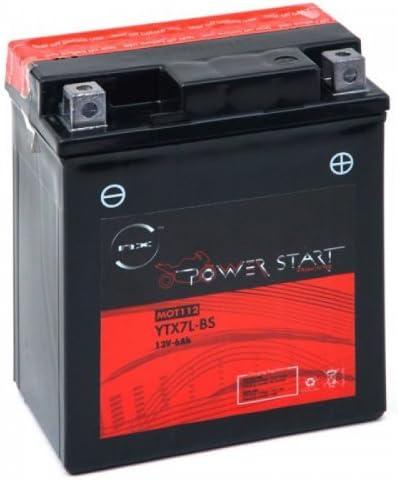 NX - Batería moto YTX7L-BS / GTX7L-BS 12V 6Ah: Amazon.es: Coche y moto