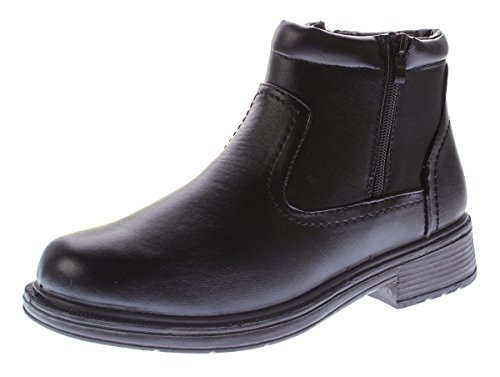 Knöchel gefüttert 46 Boots Herren Kunst 40 Leder Gr Schwarz Winter Stiefeletten Schuhe Reißverschluss dPnHn