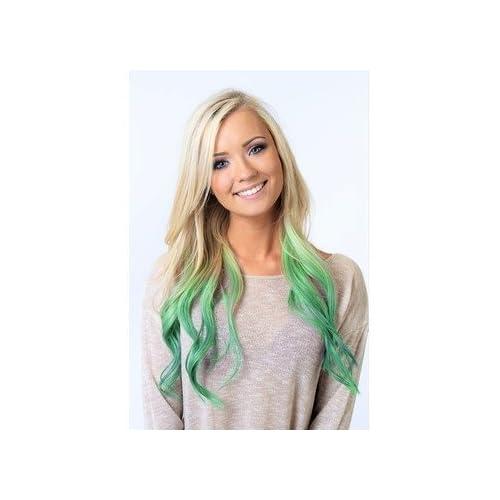 Joker Style Halloween Temporary Hair Color Neon Lime Green Hair