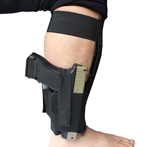 Non-Slip-Ankle-Holster-with-Neoprene-Padding-for-Concealed-Carry-Elastic-Ankle-Rig-with-MAG-Pouch-Calf-Retention-Straps-for-Women-Men-Fits-Small-to-Medium-Frame-Pistols-and-Revolver