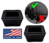 2-Pack Car Seat Belt Buckle Holder by eZtotZ - Designed to Be Easy to Install - Soft Safe Rubber - Helps Kids to Buckle in by Themselves - Made in USA - Please Check Seatbelt Type
