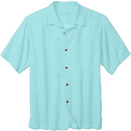 Royal Bermuda (Tommy Bahama Royal Bermuda Camp Shirt (Aqua, L))