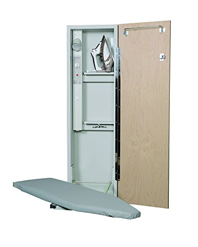 - Iron-A-Way AE-42 Deluxe Electric Swivel Ironing Center, Raised Maple Panel Door