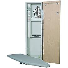 Iron-A-Way AE-42 Deluxe Electric Swivel Ironing Center, Flat Maple Veneer Door