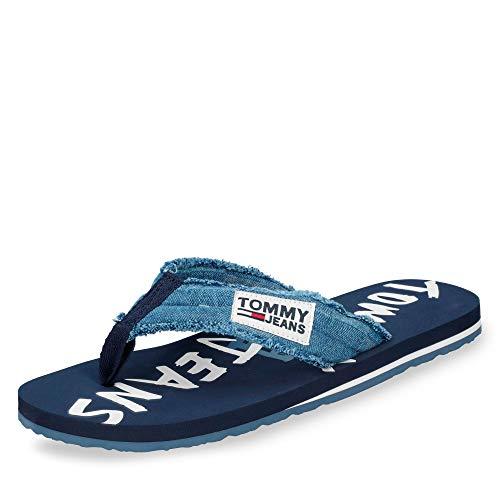 PRI Hilfiger o 404 piscina para Tommy EM0EM00064 Chanclas GRAPHIC TJ hombre Denim artículo dIFdvw