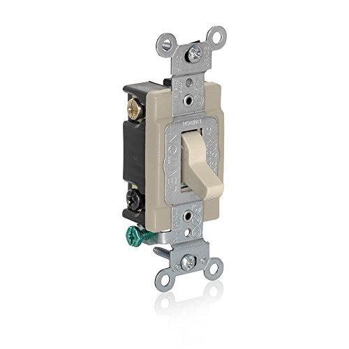 Leviton 1080-I Momentary Contact SPST Toggle Switch, ()