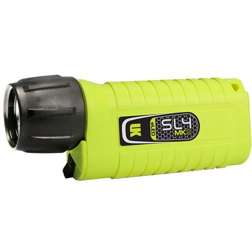 Flashlight Kinetics Yellow Underwater - Underwater Kinetics SL4 eLED MK2 Dive Light, Safety Yellow