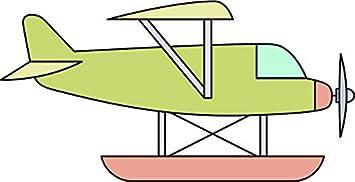 Amazon Com Colorful Airplane Jet Aviation Flying Pilot Retro