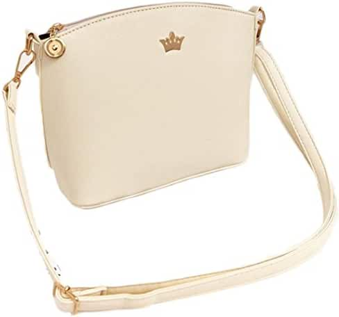 Mini Shoulder Bag,Hemlock Women Girl Zipper Bag Clutch Handbags (White)