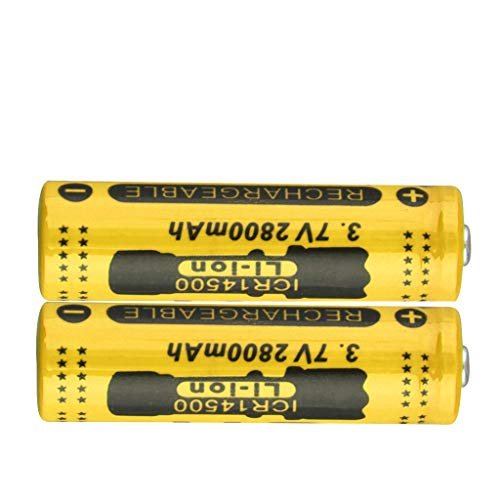 Soosch 2PCS 3.7V 2800mAh Rechargeable Lithium Battery 14500 Cylindrical Battery for Electric Tools Toys Flashlights