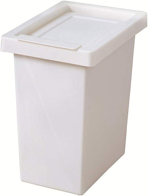 FTLY Bote de Basura Blanco 10L Cubo de Basura de plástico Hogar nórdico Cubo de Basura Simple Hogar Cocina Tirón Baño Dormitorio Oficina Cubo de Basura Depósito de Basura: Amazon.es: Hogar