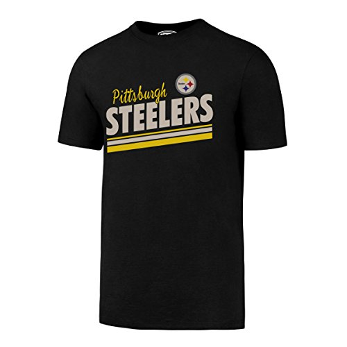 OTS mens Rival Tee NFL Small, Jet Black Pittsburgh Steelers,
