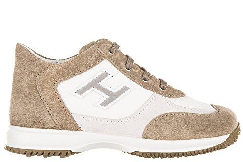 Hogan Sneakers Kinder Schuhe Jungen Kinderschuhe Wildleder interactive h flock b