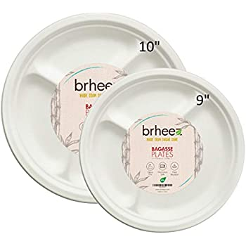 amazon com chinet paper compartment plates 165 ct kitchen dining
