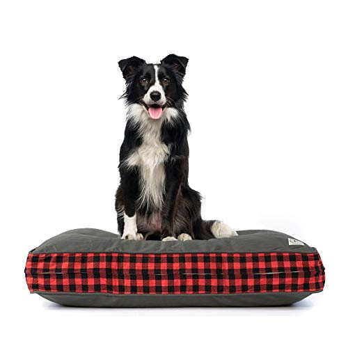 eLuxurySupply Pet Beds - Deluxe Cluster Fiber Filling Pet Beds for Dog and Cats | 100% Cotton Removable Cover | Fully Washable | Small, Medium & Large Pet Beds ()