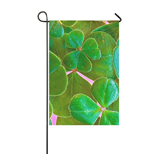 Home Decorative Outdoor Double Sided Shamrocks Clover St Pat