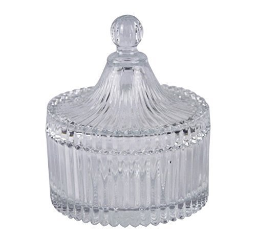 Dome Shape Glass Sugar Serving Bowl with Lid Candy Dish
