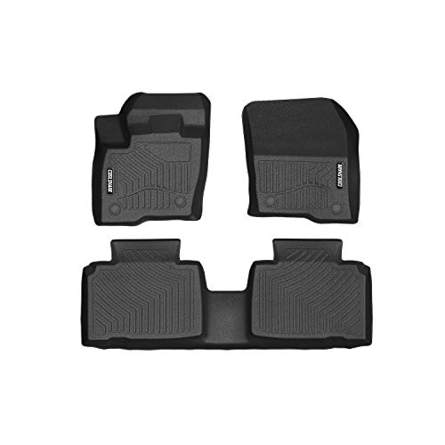 COOLSHARK Ford Edge Floor Mats, Waterproof Floor Liners Custom Fit for 2015-2019 Ford Edge,1st and 2nd Row Included-All Weather Heavy Duty Rubber Floor - Edge Ford