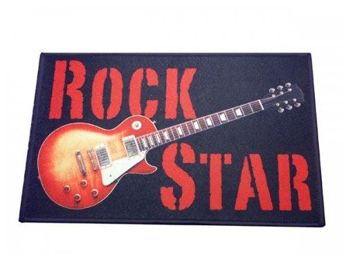 Rock Star Fuß matte Gitarre - Fuß matte Close Up