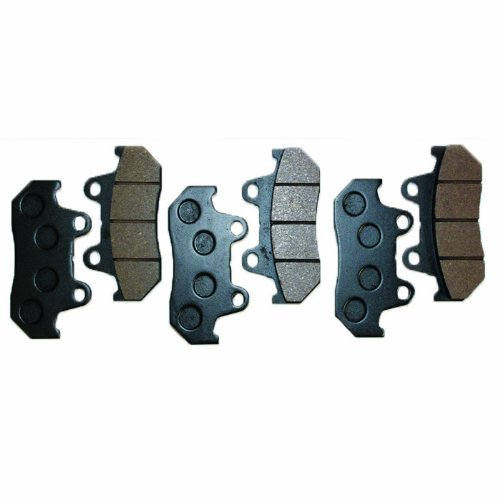 Caltric Front Rear Brake Pads Fits HONDA GL1100 GL1100I GOLDWING INTERSTATE Front Rear Brakes 1983