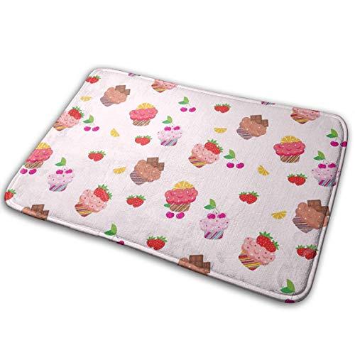Jingclor Welcome Doormat, Entrance Floor Mat Rug Indoor Outdoor Front Door Mat with Non-Slip Rubber Backing, Printing Doormats with Ice Cream Wallpaper, 15.8''WX23.6''L -
