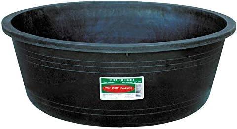 Tuff Stuff KMD102 7 Gallon Capacity Recycled Plastic Heavy Duty Bowl, Black