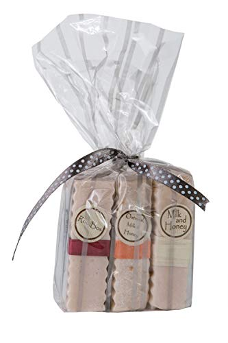 Goat Milk Soap Bar (Pack of 3) for Dry, Itchy Skin Relief - Oatmeal Moisturizing Skin Exfoliator - 100% Natural & Gentle Face Body Soap - Suitable for All Skin Types & Sensitive Skin
