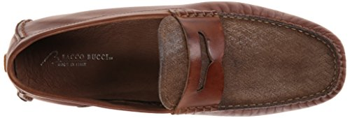 Bacco Bucci Mens Albatross Slip-on Mocassino Marrone