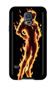 Hot 5153915K17315713 Galaxy S5 Case Bumper Tpu Skin Cover For Human Torch Accessories