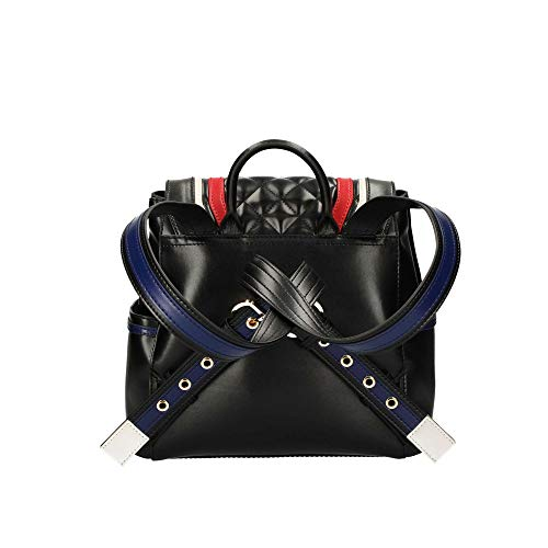 Trapuntato Ecopelle Borsa Donna Bs19mo21 Love Moschino Nero multic Con Zaino Pattina wpAZRWgxqF