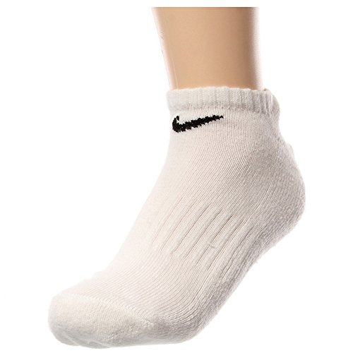 Nike Men's White No-Show Socks 6 Pack Large Size 8-12