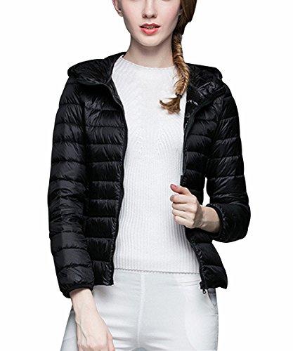 Minghe Womens Ultralight Packable Hoodie Windproof Warm Duck Down Jacket