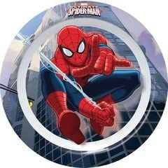 Blue Ciao Hello 33916 Spider-Man City Flat Plate Melamine