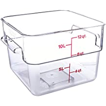 Camwear Polycarbonate Square Food Storage container, 12 Quart