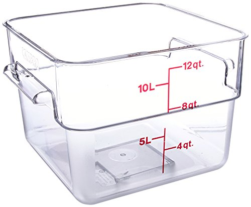 Cambro 12SFSCW135 Camwear Polycarbonate Square Food Storage container, 12 Quart (12 Containers Square Quart)