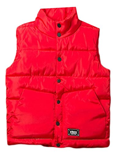 Collar Jacket Waistcoat Sleeveless Single Breasted Mens Red UK Vest today Stand Down qw8Zt8F