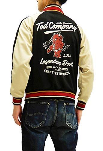 TEDMAN Men's Slimmer Fit Casual Fashion Zip-Up Graphic Track Jacket TJS-2800 Black Japan L (US M/UK 38)