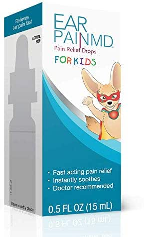 Ear Pain MD for Kids, Ear Pain Relief Drops, Earache Drops, Fast Pain Relief