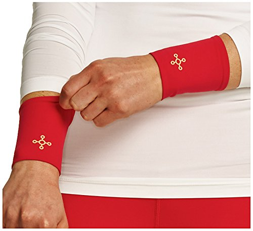 Tommie Copper Women's Recovery Affinity Wrist Sleeve, Pomegranate, Large by Tommie Copper (Image #1)