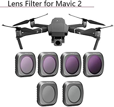 Color : ND16 HONG YI-HAT Camera Lens Filter Set ND4 ND8 ND16 ND32 for Mavic 2 UV CPL Filter Kits for DJI Mavic 2 Pro Drone Accessories Parts Filter Sets