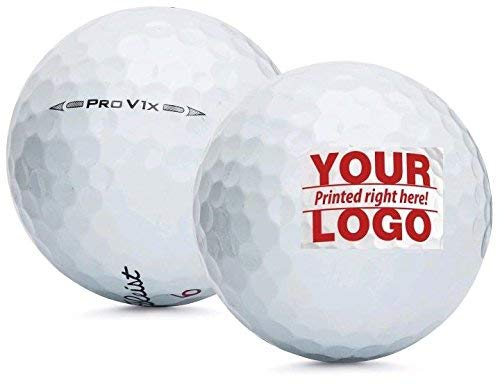 Personalized 5 Dozen Pro V1x Golf Balls Customized with Your Own Image + Free Poker Chip Ball Marker ()