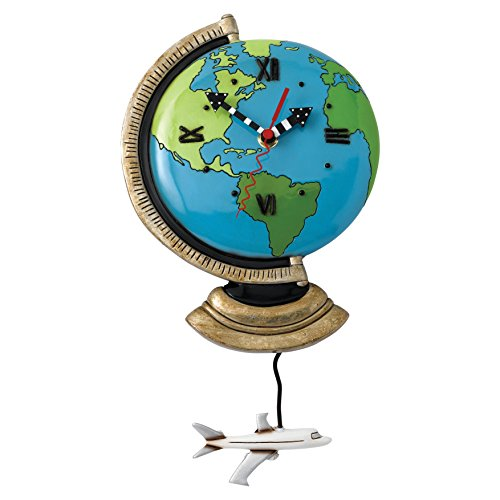 World globe clocks amazon allen designs globe pendulum clock gumiabroncs Image collections