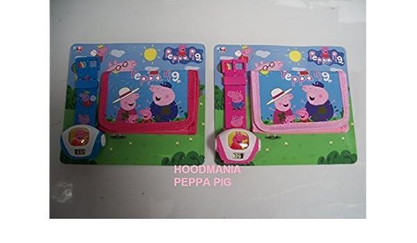 Juego de reloj de pulsera proyector y cartera con diseño de Peppa ...