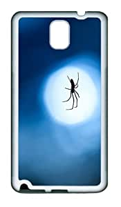 Spider Custom TPU Soft back Case for Samsung Galaxy Note 3 / Note III / N9000 White
