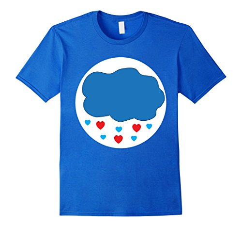 Care Bears Costumes For Toddlers (Mens Care Cloud Heart Bears Halloween Group Costume TShirts XL Royal Blue)
