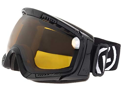 VonZipper Feenom Snow Goggle,Black Gloss Frame/Bronze Lens,One Size