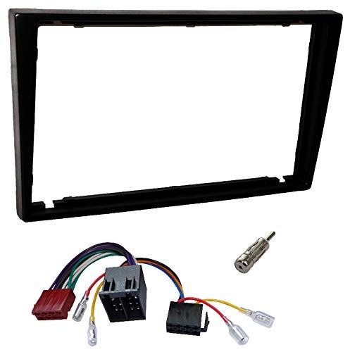 Aerzetix faisceau et adaptateurs dantenne Kit de Montage dAutoradio Standard 2DIN C4580A Noir Fa/çade