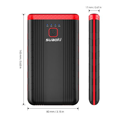 Suaoki U3 400A Peak Jump Starter Lithium ion Phone Charger and Battery Booster Power Pack for Automotive Truck Motorcycle Boat by SUAOKI (Image #8)