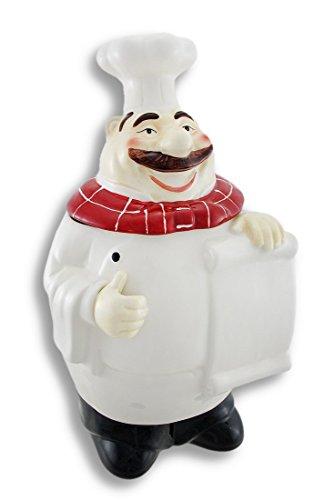 Cute Ceramic Cheerful Chef Cookie Jar (Chef Cookie Jar)