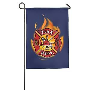 Verano fresco bombero hogar y jardín banderas, banderas de la casa decorativa–12* 18/18* 27cm